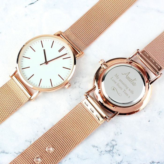 Personalised Rose Gold Coloured Watch