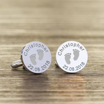 Personalised New Daddy Cufflinks - Baby Cufflinks