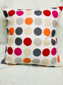 "HANDMADE CUSHION COVER Bold Spots Cushion Cover 16"" Same both sides Spotty Cover"