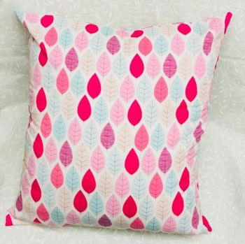 "HANDMADE CUSHION COVER Pastel Leaves Cushion Cover 16"" Same both sides"