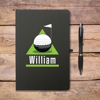 Personalised Golf Green Notebook & Pen
