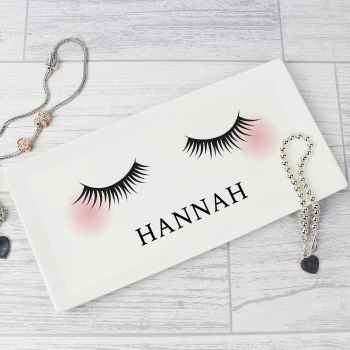 Personalised Eyelashes Ceramic Trinket Tray