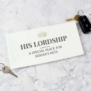 Personalised Her Lordship Ceramic Trinket Tray