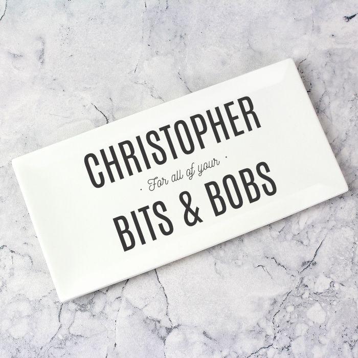 Personalised Bits & Bobs Ceramic Tray