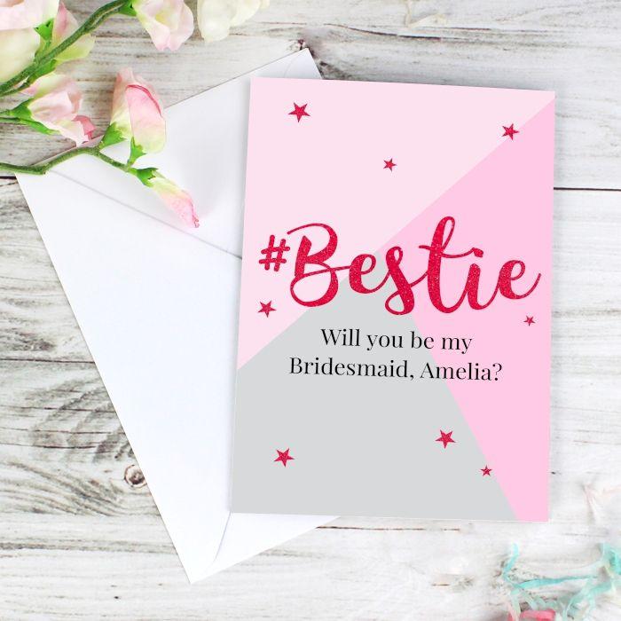 Personalised BESTIE Card Best Friend Birthday BFF Bestie Thank You