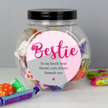 Personalised BESTIE Sweet Jar