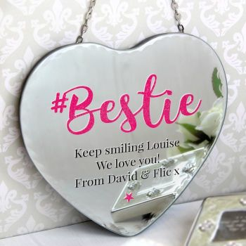 Personalised BESTIE Hanging Mirror