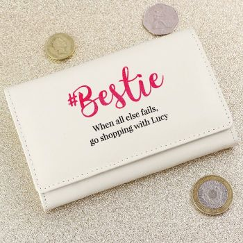 Personalised BESTIE Cream Purse