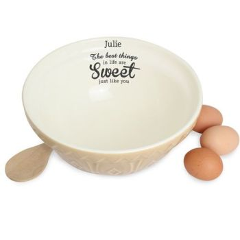 Personalised Best Things In Life Bowl Baking Bowl