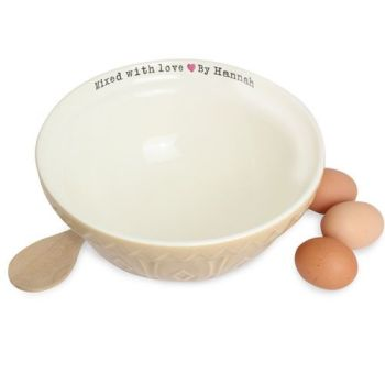 Personalised Mixed With Love Bowl Baking Bowl
