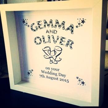 Handmade Couples Frame - Engagement, Wedding Anniversary Gift