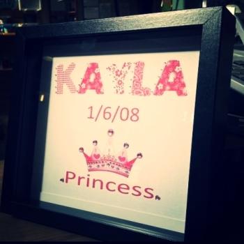 Handmade Princess Birthday Frame