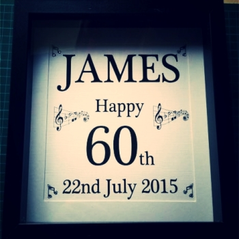 Handmade Milestone Age Birthday Frame - Music Theme