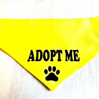 Handmade Adjustable ADOPT ME Dog Bandana - Various Sizes