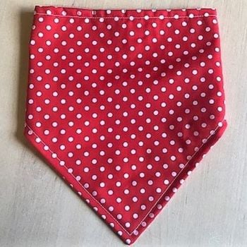 Handmade Adjustable RED Dog Bandana - Various Sizes