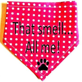 Handmade Adjustable THAT SMELL...ALL ME! Dog Bandana - Various Sizes