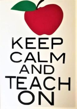 Keep Calm & Teach On Card - Handmade Greeting Card