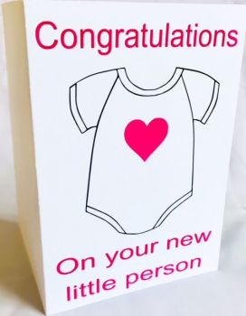 New Little Person Card - Handmade Greeting Card