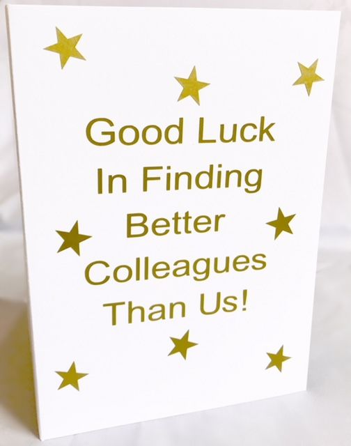 Good Luck in your New Job Card - Handmade Greeting Card