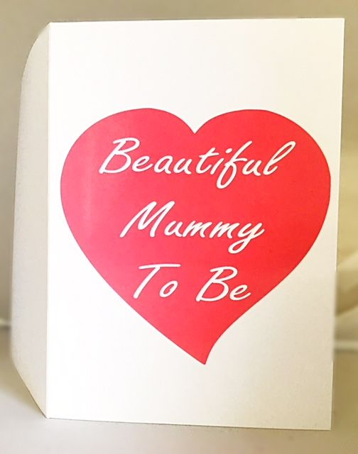 Beautiful Mummy To Be Card - Handmade Greeting Card