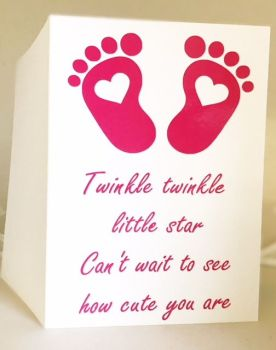 Twinkle Twinkle Baby Card, Baby Shower - Handmade Greeting Card
