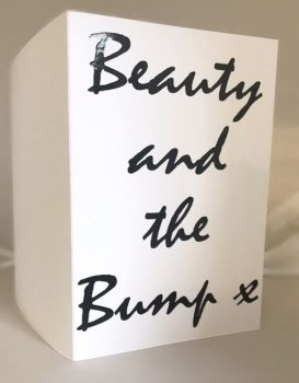 Beauty & The Bump Card, Baby Shower - Handmade Greeting Card