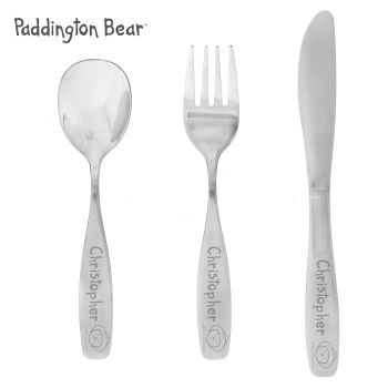 Personalised Paddington Bear 3 Piece Cutlery Set