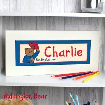 Personalised Paddington Bear Name Frame