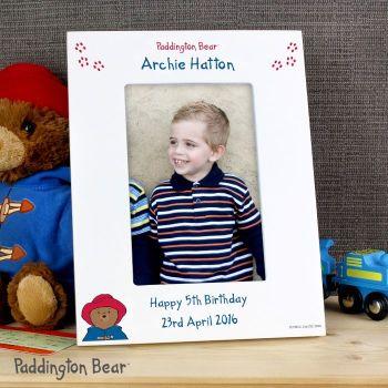 Personalised Paddington Bear 4x6 Photo Frame