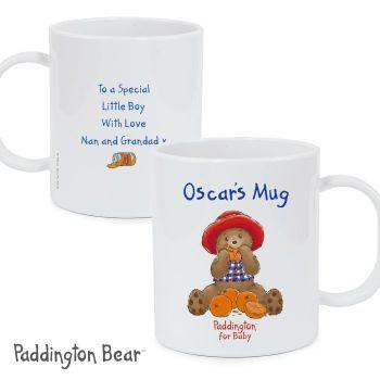 Personalised Paddington Bear For Baby Plastic Mug