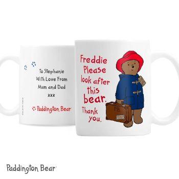 Personalised Paddington Bear Mug