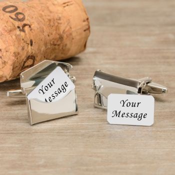 Personalised Any Message Envelope Cufflinks