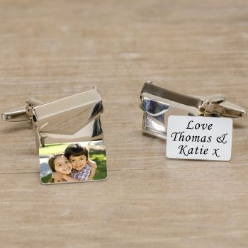 Personalised Photo & Any Message Envelope Cufflinks