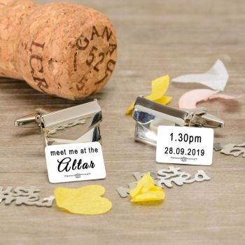 Personalised Meet me at the Altar Envelope Cufflinks