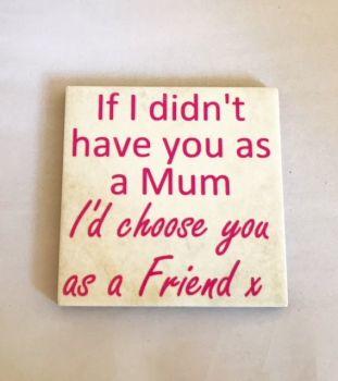 Mum Rustic Tile Coaster(s)