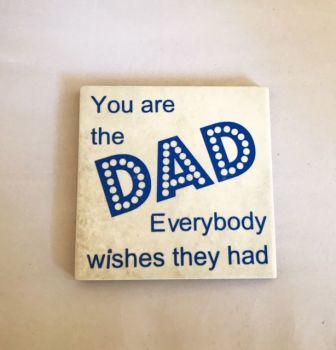 Dad Rustic Tile Coaster(s)