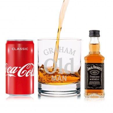 Personalised Old Man Jack Daniels Gift Set