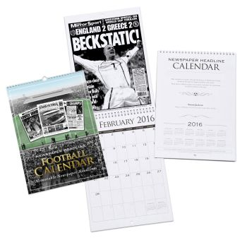 Personalised Football Club Calendar - Start on ANY Month