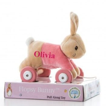 Personalised Flopsy Personalised Pull Along Toy