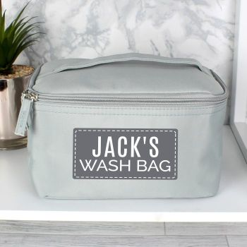 Personalised Classic Grey Wash Bag
