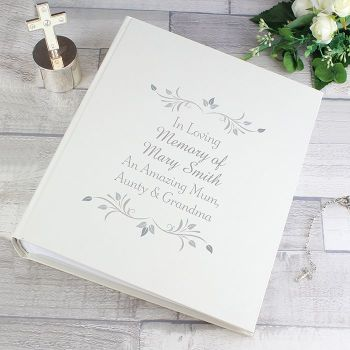 Personalised MEMORIAL PHOTO ALBUM - Memorial Guest Book - Rememberance Guest Book