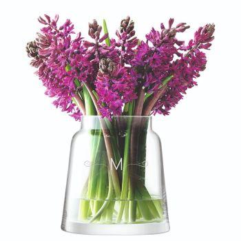 Monogrammed LSA Chimney Vase