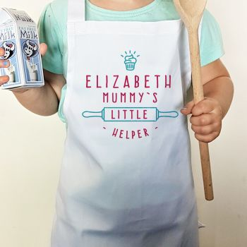 Personalised Mummy's Little Helper Child's Apron