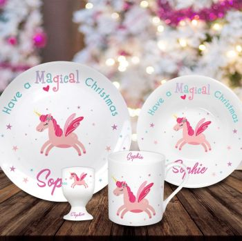 Personalised Magical Christmas Breakfast Set