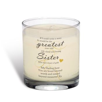 Personalised Memorial Greatest Story Scented Candle