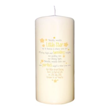 Personalised Twinkle Twinkle Memorial Candle