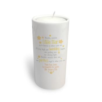 Personalised Twinkle Twinkle Memorial Tea Light Candle Holder