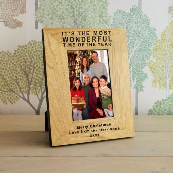 "Personalised 7""x5"" Wonderful Time Of The Year Photo Frame"