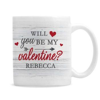 Personalised Be My Valentine Mug