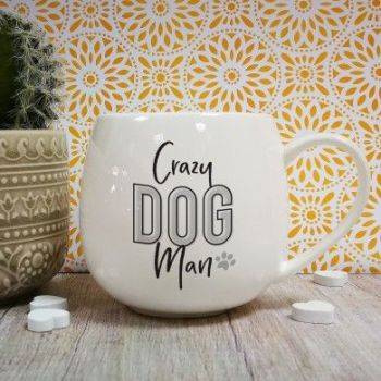 Personalised Crazy Dog Man Hug Mug